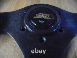 Honda Mugen Steering Wheel 36 Genuine Black Leather OEM JDM Civic NSX Integra