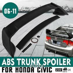 Hot For 06-11 Honda Civic 4DR Sedan Unpainted RR 4Pic Trunk Wing Spoiler Safe