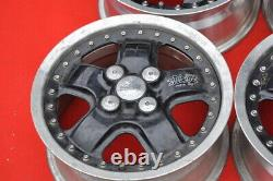 JDM 14 MUGEN MR5 14x6J +45 4x100 RIMS HONDA CIVIC CRX EF8 EF9 EF3 FULL caps