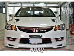 JDM HONDA Civic Fd6 Front Bumper Lip Mugen STYLE PLASTIC 2006 2012 Unpainted