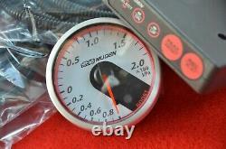 JDM MUGEN Boost Gauge turbo meter & Control Unit HONDA civic EK9 CTR S2000 NSX