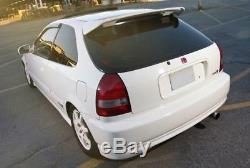 JDM Type-R PRIMER BLACK Rear Roof Wing Spoiler For 96-00 Honda Civic Hatchback