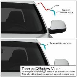 JDM Window Visors Side Rain Guard Deflectors For 96-00 Civic EK9 Coupe Hatchback