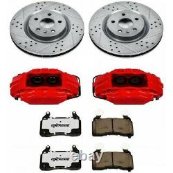 KC2439-26 Powerstop Brake Disc and Caliper Kits 2-Wheel Set Front Coupe Sedan