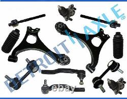Lower Control Arms Ball Joint + Tie Rod + Sway Bar Fit 2006 2011 Honda Civic