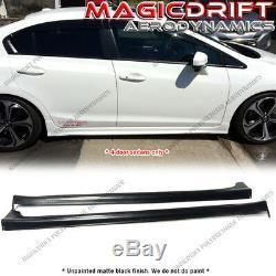 MU-GEN JDM MU Style Side Skirts for 12-15 Honda Civic 9Gen 4Dr Sedan Urethane