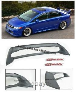 MUGEN RR STYLE REAR WING SPOILER FOR CIVIC 06-11 SEDAN FD2 With RED EMBLEMS
