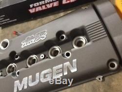 MUGEN Style Engine Valve Cover B16 B18 Acura Integra DOHC VTEC GUNMETAL CIVIC