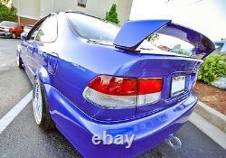 MUGEN Style PRIMER BLACK Rear Trunk Lid Wing Spoiler For 96-00 Honda Civic Coupe