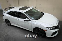 MUGEN Style Rear Roof Wing Spoiler BLACK Emblem For 16-Up Honda Civic Hatchback