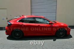 MUGEN Style Rear Roof Wing Spoiler For 16-Up Honda Civic Hatchback Black Emblem