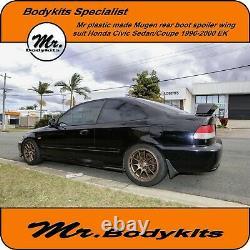 Mr. Mugen Plastic Rear Boot Spoiler Wing -Honda Civic 1996-2000 EK Sedan/Coupe