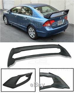 Mugen RR Style ABS Plastic Rear Trunk Wing Spoiler For 06-11 Honda Civic Sedan