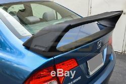 Mugen RR Style Rear Trunk Wing Spoiler & Black Emblem Pair For 06-11 Civic Sedan