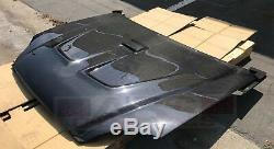Mugen Style Carbon Fiber Hood for 1992 1995 Honda Civic Coupe HatchBack(2/3dr)