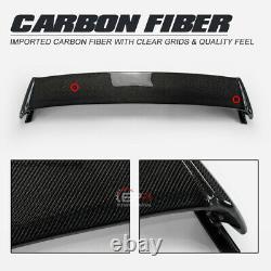 Mugen Style Carbon Fiber Rear Spoiler Wing Splitter For Honda EK Civic 4 Door