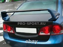 Mugen for Honda Civic 4D euro type 2006 2007 2008 2009 2010-2011 trunk spoiler