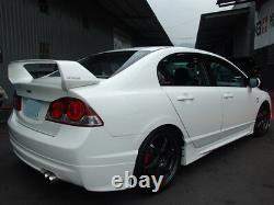 Mugen style Trunk Spoiler for 2006 2011 Honda Civic, Acura CSX (ABS Unpainted)