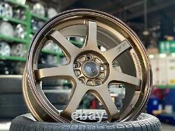 New 17 inch Mugen GP BRONZE wheel (4 pcs) Honda Civic Accord CRV Odyssey 5x114.3