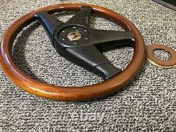 OEM MOMO ML38 Honda Access Wood Steering Wheel, Civic, CRX, NSX, EE9, Mugen, JDM