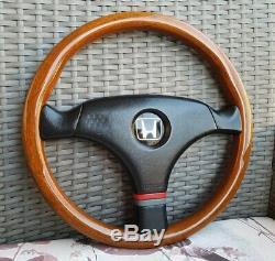 OEM MOMO VL35 Honda Access Wood Steering Wheel, Civic, CRX, NSX, EE9, Mugen, JDM