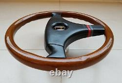 OEM MOMO VL35 Honda Access Wood Steering Wheel, Civic, CRX, NSX, EE9, Mugen, JDM, RARE