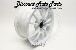 PLM M10 Performance Wheel 15 x 7 4 x 100 Honda Acura Civic Integra White JDM