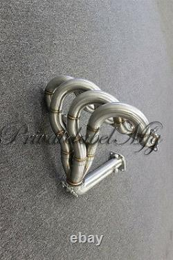 PLM RAM HORN Exhaust Header without Test Pipe FOR Integra Civic B18C B16A B18B GSR