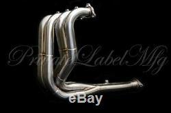 PLM Tri-Y Standard Tube Exhaust Header FOR Integra & Civic Si B18C B16A B20B GSR