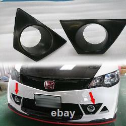 Painted For Honda Civic 8th Mugen RR Look Fog Light Cover Retainers RR Model Kit