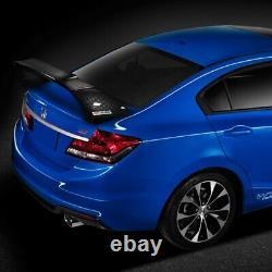 Real Carbon Fiber Mugen Style Rear Trunk Spoiler Fit 2012-2015 Honda CIVIC Sedan
