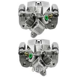 Rear Brake Calipers Semi Metallic Pads Performance Rotors Kit For Honda Civic