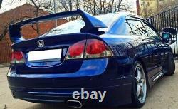 Rear Bumper Lip Spoiler Splitter For Honda Civic 4D Sedan 06-12 Mugen Style New