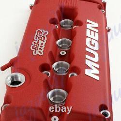 Red MUGEN Style Engine Valve Cover For Honda Civic B16 B17 B18 VTEC B18C DOHC