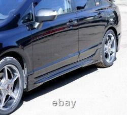 Side Skirts For Honda Civic 4D Sedan 8th Gen 2006-2012 Mugen Style Body Kit New