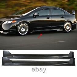 Side Skirts Mugen Style Body Kit for Honda Civic 4D Sedan 8th Gen 2006-2011