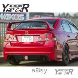 Spoiler for 06-11 Honda Civic Sedan 4Dr Mugen Style RR 4Pic Trunk Splitter Wing