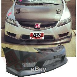 Type R Style Bumper for USDM 2006-2011 Honda Civic Sedan Unpainted + Mugen Lip