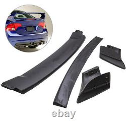 Unpainted Mugen Style RR 4Pic Trunk Wing Spoiler For Honda Civic 06-11 4DR Sedan